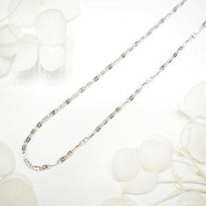 18ct white gold 45cm chain