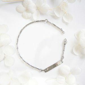 18ct White Gold Identity Baby Bracelet