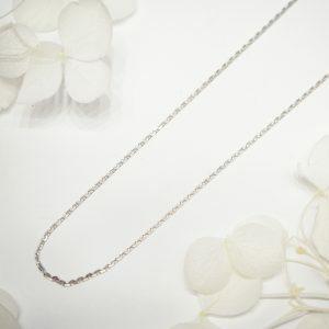 18ct white gold 40cm trace chain