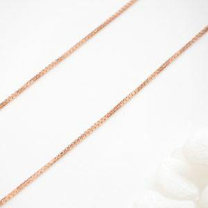 18ct rose gold 45cm box chain