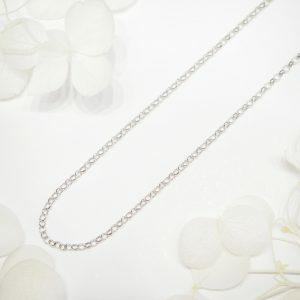 18ct white gold 45cm trace chain
