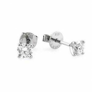 18ct white gold 2=0.40ct diamond stud earrings