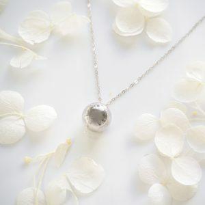 18ct white gold 10mm ball slider necklace