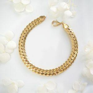 18ct yellow gold snake chain bracelet