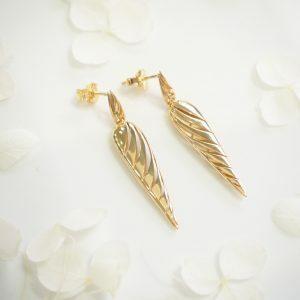 18ct yellow gold drop earrings