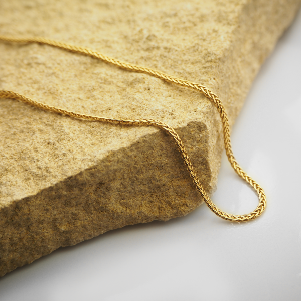 18ct yellow gold 45cm foxtail chain