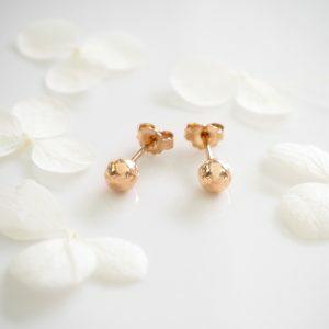 18ct rose gold 5mm ball stud earrings