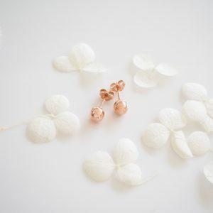 18ct rose gold 6mm ball stud earrings
