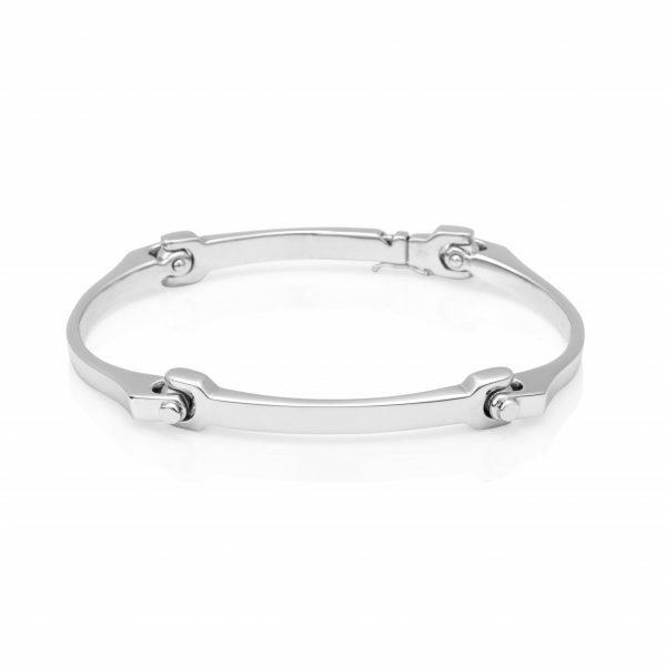 Silver Dog Bone 'Sensi' Mens Bracelet