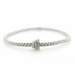 18ct white gold diamond Fope bracelet