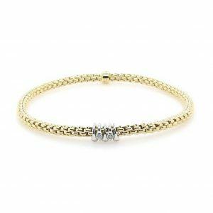 18ct yellow gold expandable Fope bracelet