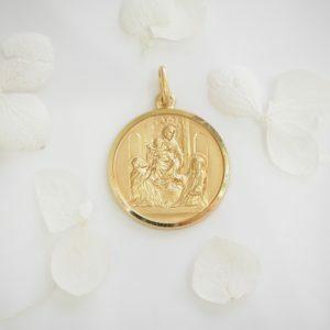 18ct Yellow Gold Religious Medallion