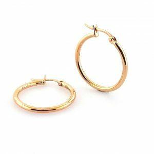 18ct rose gold hoop earrings