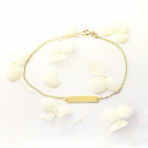 18ct yellow gold ID baby bracelet