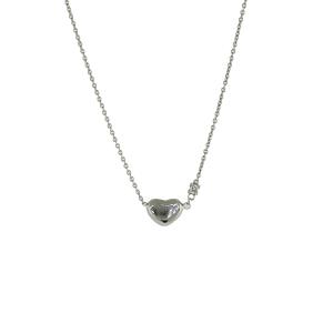 18ct white gold heart diamond necklace
