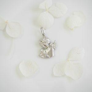 18ct White Gold Angel Charm