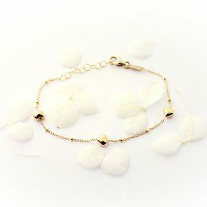 18ct yellow gold heart baby bracelet