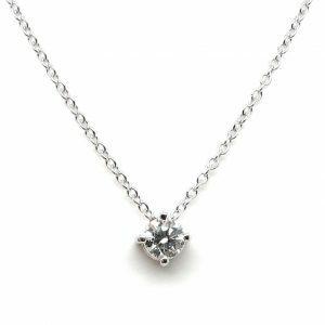 18ct white gold 0.25ct diamond necklace