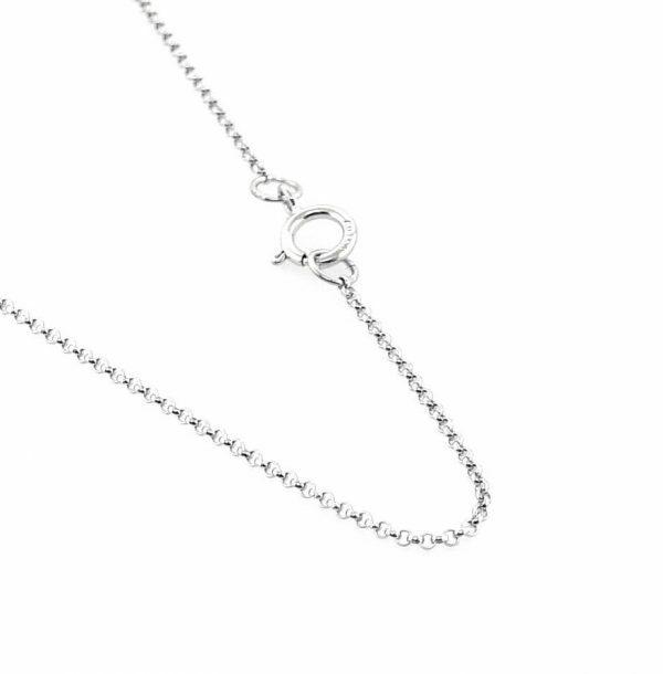 18ct white gold 40cm fine belcher chain