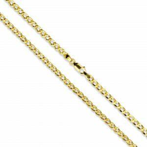 18ct yellow gold curb 20cm bracelet