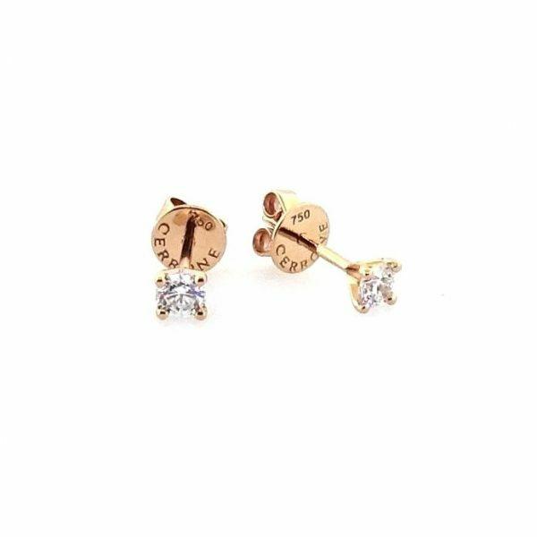 18ct rose gold 2=0.35ct RBC diamond stud earrings